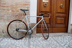 2F1 fixed gear bicycle Columbus steel framehandmade in Italy
