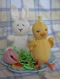 Easter Basket Buddies by Joan Beebe, knit in Berroco Comfort