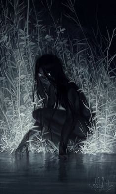 Kunst Zeichnungen - nocturne by Loish on Deviantart, Darkness, Character Design, Digital Painting, D. Dark Fantasy Art, Fantasy Girl, Fantasy Artwork, Arte Horror, Horror Art, Creepy Horror, Art Sinistre, Art Noir, Loish