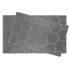 Pearl Honeycomb 2 Piece Bath Mat Set