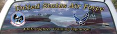 United States Air Force 435th Fighter Training Squadron Truck Window Mural.