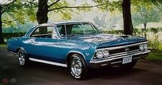 66 Chevelle SS 396-original as it left the factory-in marina blue metallic-paint code 3F lacquer