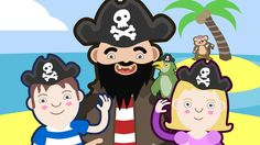 Fun actions song for children featuring a happy band of pirates. Join in with the actions and exercises for children! Happy Pirates is the official song for . Action Songs For Children, Preschool Action Songs, Songs For Toddlers, Kids Songs, Preschool Pirate Theme, Pirate Activities, Pirate Songs, Circle Time Songs, Pirate Maps