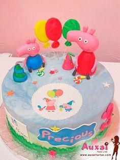 Con este tutorial, aprenderás paso a paso, como decorar cualquier tarta personalizada o creación de Repostería Creativa con motivos de Peppa Pig.