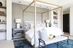 Dreamiest of master bedrooms ♡ So glad we opted to do grasscloth in the alcove for a lil' bit of contrast against the white oak & leather… Bedroom Alcove, Oak Bedroom, Bedroom Apartment, Master Bedrooms, Bedroom Ideas, Bedroom Inspiration, Master Suite, Design Inspiration, New Bedroom Design
