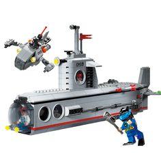 382pcs Military Model Toy Submarine Blocks Enlighten Building Toy Blocks Figure Bricks Toys for Boys Children Gifts K0409-816 #Affiliate