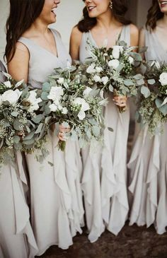 fall wedding flowers --- sage green green wedding bouquet Wedding and reception preparation; Gray Wedding Colors, Fall Wedding Flowers, Floral Wedding, Wedding Greenery, Green And White Wedding Flowers, Grey Wedding Theme, Spring Wedding Colors, Grey Flowers, Fall Flowers
