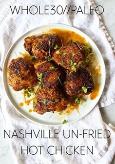 "Whole30 + Paleo Approved Nashville ""un-fried"" Hot Chicken!!"