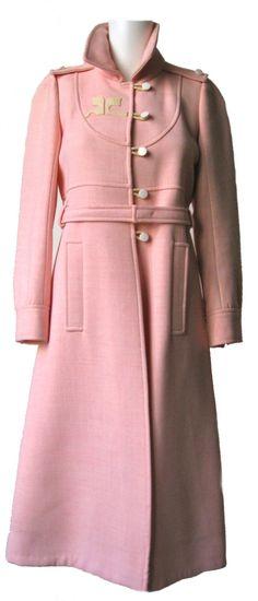 Mod 1960's Courreges Pink Coat.