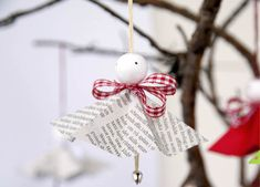 Paper angels for Christmas.
