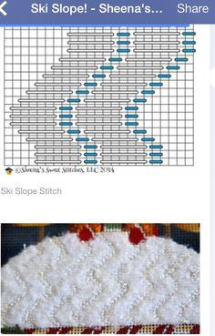 Ski slope stitch