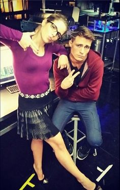 Arrow - Emily Bett Rickards & Colton Haynes - Behind the scene