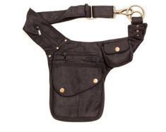 Made with soft, Nubuck leather  1 x Expandable Outer pockets with button and zip…