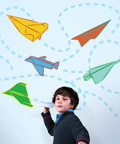Look what I found on #zulily! Paper Airplanes Decal Set #zulilyfinds