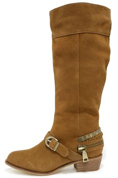 ab06e111a26 Chinese Laundry Solar Camel Suede Leather Knee-High Boots