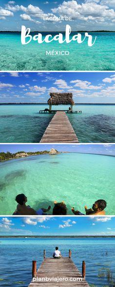 Laguna de Bacalar es un de los uno de los pueblos magicos  más increibles de Quintana Roo, México. por Plan B Viajero  #mexico #bacalar #rivieramaya #laguna #visitmexico #pueblo #magico