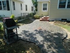 Paver Patio with Red Bull and grill pad Inver Grove, MN