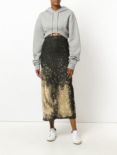 Jean Paul Gaultier Vintage bleached denim skirt