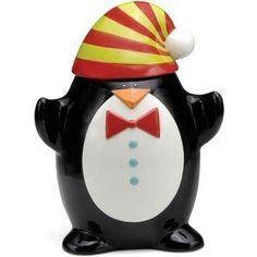 Christmas Cut-outs Penguin Cookie Jar