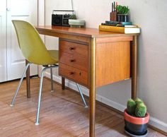Mid Century Modern Desk in the style of Arne by ModernFixation