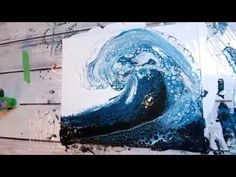 (54) BEST OCEAN WAVE Acrylic Pour EVER!!! - YouTube