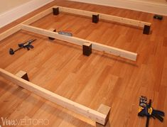 Easy DIY Platform Bed Frame for a King Bed (with Instructions!)