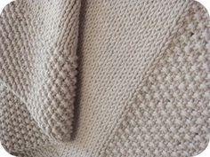 Couverture point de riz et jersey, environ 65*65 cm  Intemporel Mercure de Mme…