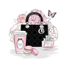 Fashion Artwork, Fashion Wallpaper, Fashion Wall Art, Canvas Art Prints, Canvas Wall Art, Chanel Wall Art, Tiffany Art, Pink Wallpaper Iphone, Cute Wallpapers