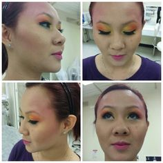 Cat walk makeup done by myself - Sun rise effect :)