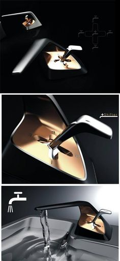 5 Coolest and creative faucets ever, it operates like a cars gear, very interesting