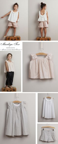 Today I'd like to introduce you to Marilyn Tov- a beautiful high end line  of clothing for little girls and their moms. It started out as a childrens  line and with a high demand for adult sizes, it slowly grew into a womans  line too.  The collection comprises of lovely dresses, great for special occassions,  as well as tops and bottoms ready to be dressed up or down. The styles are  delicate and feminin, adorned with simple and sweet details. It really  is all in the detailing- small…