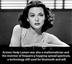 Hedy Lamar was also a mathematician!