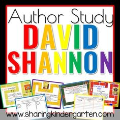 David Shannon Author Study - Sharing Kindergarten