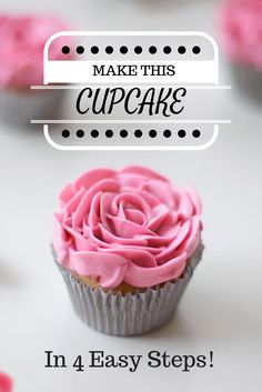 Not-So-Basic Buttercream Decorating Ideas Want to learn how to make this pretty, piped flower cupcak Köstliche Desserts, Delicious Desserts, Yummy Food, Cake Decorating Tips, Cookie Decorating, Buttercream Decorating, Cupcake Recipes, Dessert Recipes, Gourmet Cupcakes