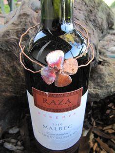 Wine Charms Wine JewelryGift Tag Wine Art Enamel by Gasquetgirl, $18.00