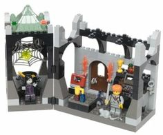 """Lego 4705 Harry Potter - Snape's Class by LEGO. $133.99. Includes Professor Snape and Ron Weasley. Contains 163 pieces in all. Harry Potter and the Philosopher's Stone meets the world of LEGO. Build Professor Snape's room complete with cauldron, spider and ghost. For ages 6 years and over. Amazon.com                Professor Snape, a rather shadowy master of the """"dark arts,"""" makes Ron  Weasley's life at Hogwarts School even more difficult than it already is as..."""