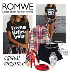 """""""ROMWE Letter T-Shirt"""" by teez-biz-nez ❤ liked on Polyvore featuring Lust For Life and Lane Bryant"""