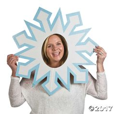 Our Snowflake Photo Prop is a unique yuletide party decoration! Perfect for office Christmas parties and family celebrations, use this photo prop to add even ...