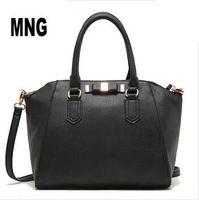 2015 New Fashion PU Leather Women Messenger Bag brief Bow Mango bags Women Handbags brand ladies tote bolsas femininas YK80-689