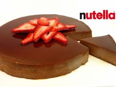 Flan De Nutella Super Facil | Hola Soy Cat - YouTube Cheesecakes, Chocolate Flan, Flan Recipe, Creme Caramel, Toblerone, Just Desserts, Cooking Recipes, Baking, Sweet