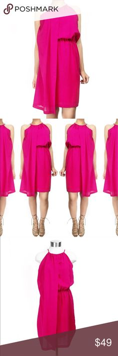 Vintage camuto pink dress Super chic pink dress by Vince camuto. Size 4 but fits like a small. No trades. All photos are of actual item. Always open to offers Vince Camuto Dresses