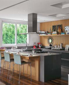 Tendência de Cozinhas com Ilha Central e Ilha Americana. www.portocasa.com.br