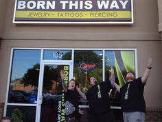 Phase 1 of our new store front is done at [Born This Way Body Arts - Knoxville, TN]! We also got sweet new shirts in too! (Available on our webstore!)