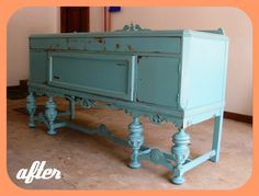 Possible color choice for buffet makeover My Furniture, Furniture Projects, Furniture Makeover, Vintage Furniture, Painted Furniture, Painted Sideboard, Painted Buffet, Refinished Furniture, Wood Projects