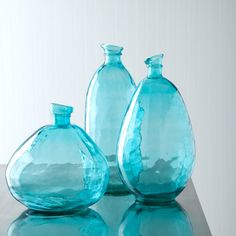 oversize recycled glass vases