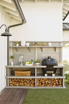 Outdoor grilling station -- CASA TRÈS CHIC: ERIC OLSEN DESIGN