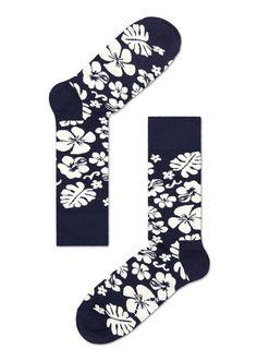 Happy Socks Black And White Socks