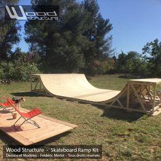 Rampe Skate Kit  – Rampe de Skate en kit pré-fabriquée – Wood Structure Skatepark
