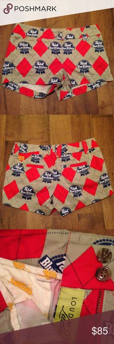 Loud Mouth Ladies PBR Golf Shorts RARE Like new RARE golf shorts barely worn size 2-I picture problems with any item to be as transparent as possible! -Bundle two or more items for 10% off! -Comment if you have any questions, I'll respond as soon as possible!  -All orders are sent out same day or next business day! -Offers welcome through the offer button! -No trades please! Loudmouth Shorts