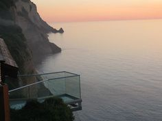 Sunset beach bar view, Corfu, Greece
